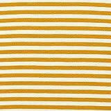 Bündchen Schlauchware schmale Streifen – senf/weiss —
