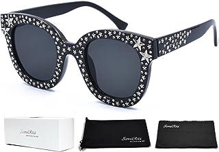 a904fb95cd0c SamuRita Sparkle Vintage Star Rhinestone Cat Eye Sunglasses Novelty Glitter  Shades
