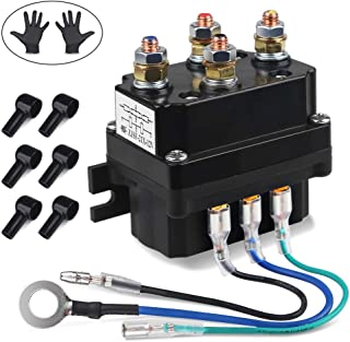 WATERWICH 12V 250A Winch Solenoid Relay Contactor with 6 Protecting caps Universal for ATV UTV 2000-5000lbs Winch