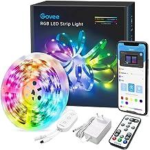 Govee LED Strip 5m, RGB LED strip, bestuurbaar via app en afstandsbediening, met muziekmodus, voor thuis, slaapkamer, keuk...