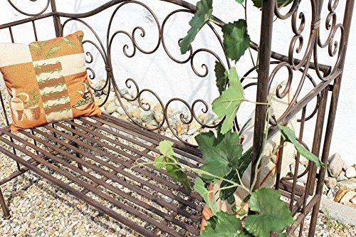 DanDiBo Rosenbogen mit Bank 120852 aus Metall 250 cm Gartenbank Spalier Pergola Kletterhilfe - 3