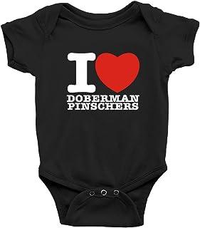 Teeburon I love Doberman Pinschers Body de bebé