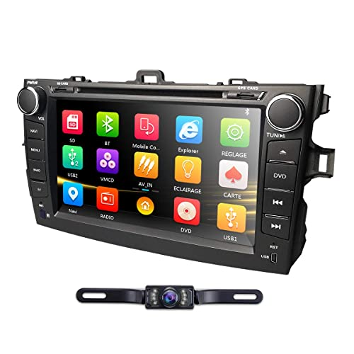 hizpo Car DVD Player 8 Inch Touch Screen GPS Stereo iPhone Music/AM FM Radio