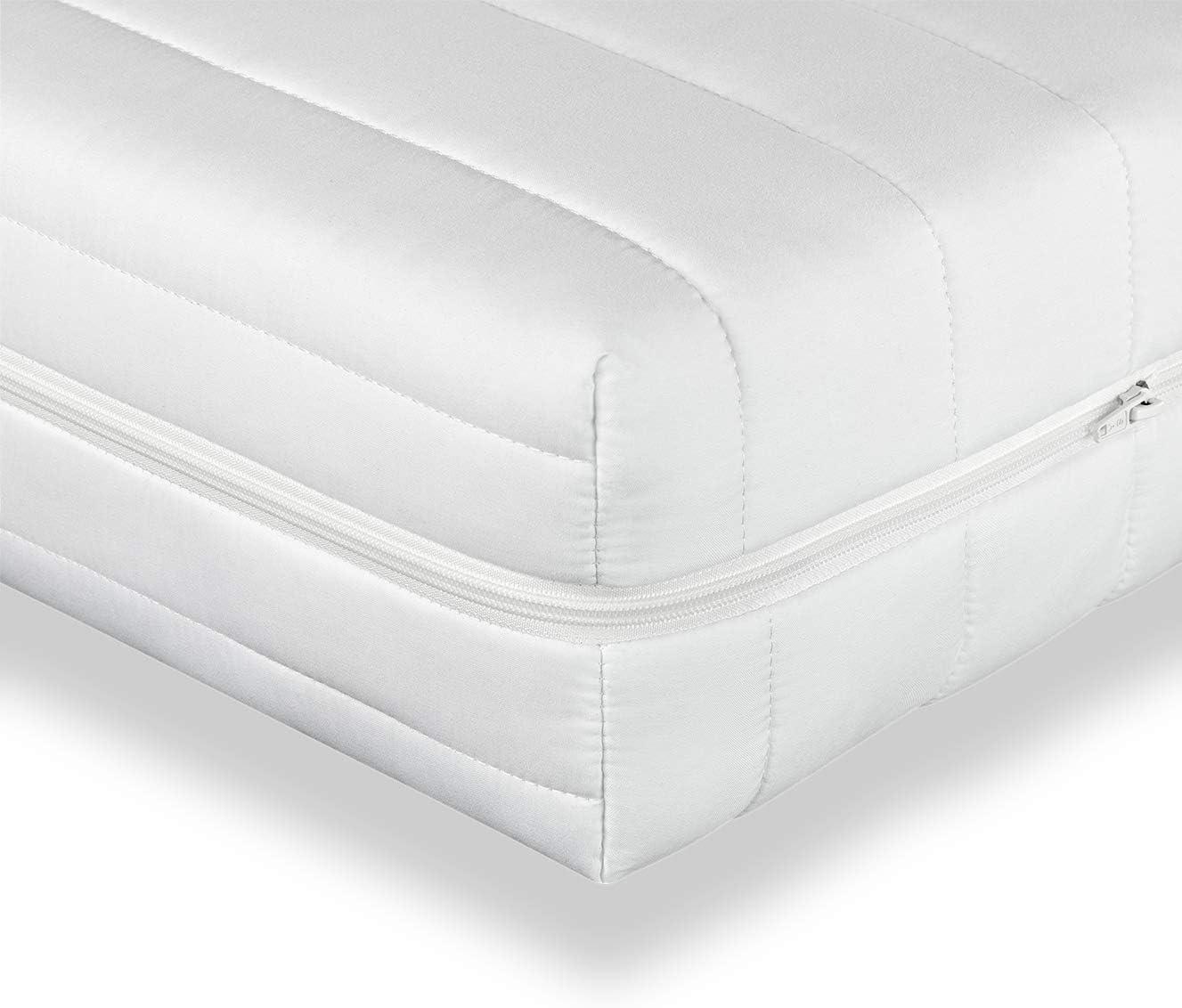 Träumegut24 – Punktelastische 7-Zonen Kaltschaummatratze – Komfortschaum Rollmatratze – ÖkoTex – Matratze Härtegrad H2 / H3 – Microfaserbezug -…