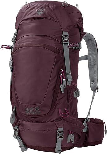 Jack Wolfskin Highland Trail 34Sac à Dos de Trekking Randonnée pour Femme, Bordeaux, One Taille