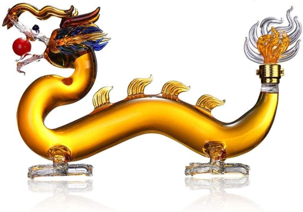 Wine Decanter Max 80% OFF Omaha Mall Chinese Dragon Shaped G Bar Whiskey Home