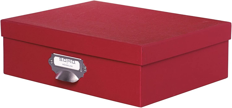 Rössler Papier - - S.O.H.O. S.O.H.O. S.O.H.O. Rot - Aufbewahrungskartonage m. Griff - Liefermenge  2 Stück B07CX8R8HS  | Deutsche Outlets  026cf0