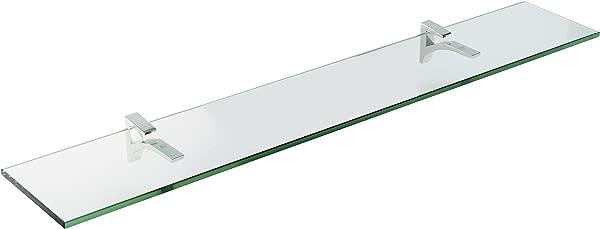 Spancraft Glass Cardinal Glass Shelf Chrome 8 X 48