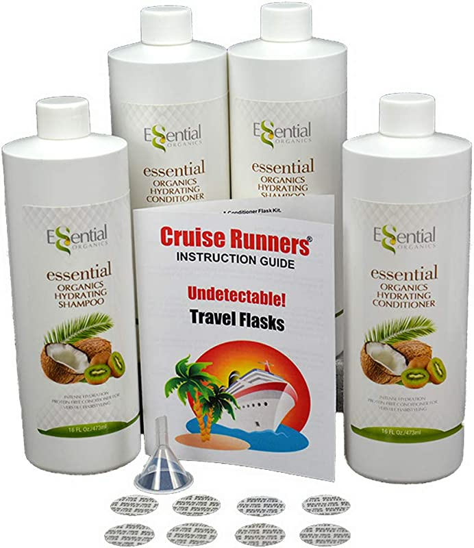 Fake Shampoo Conditioner By CRUISE RUNNERS Hidden Liquor Alcohol Flasks For Booze Cruise Enjoy Rum Runners 4 Bottles