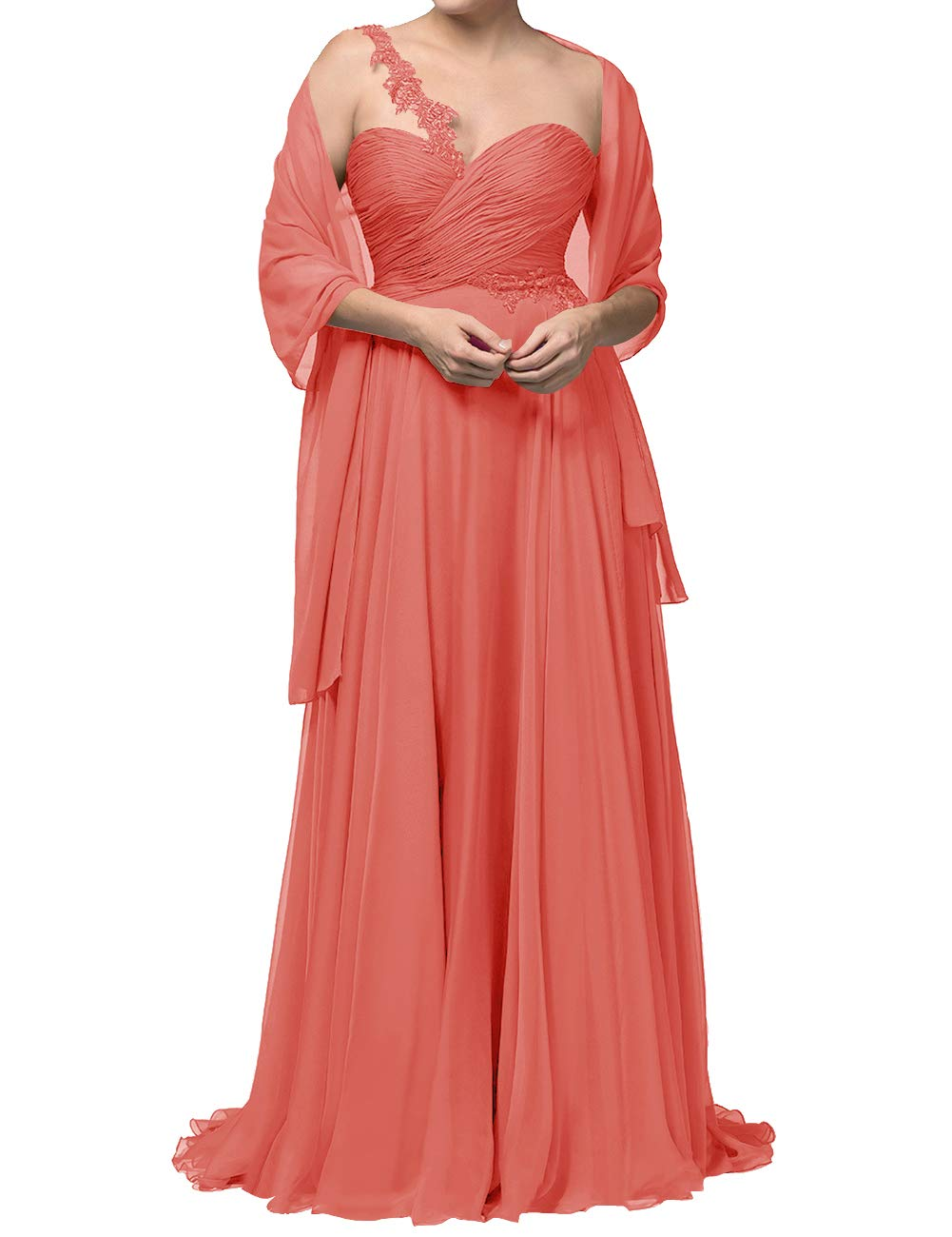 Available at Amazon: Mother of The Bride Wedding Dresses Long Formal Gown Evening Dress with Scarf