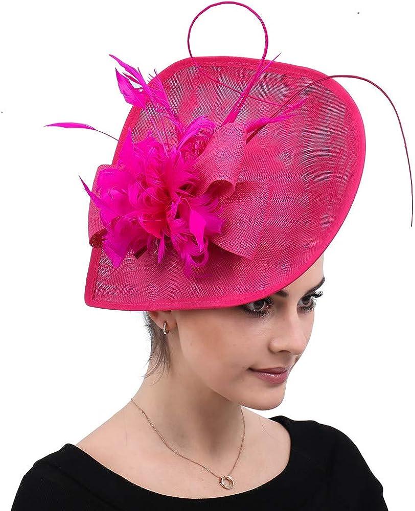 Cocktail Party Wedding Hat Formal Dress Royal Fascinator Fedoras Ladies SYF538