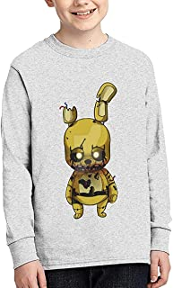 Kmehsv Camiseta con cuello redondo Five Nights at Freddy's Boy, color negro
