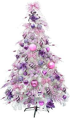 FFANY Albero Albero di Natale Pre Lit Natale con LED e di Bowknot, Piccolo Regalo, Natale Baubles (Size : 1.2M)