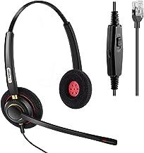 $32 » Arama Phone Headset RJ9 with Noise Cancelling Mic Compatible with Polycom VVX311 VVX410 VVX411 VVX500 Mitel 5320e Avaya 14...
