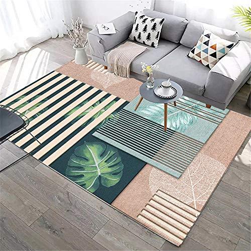 Kunsen alfombras niños Home alfombras Infantiles Sala de Estar Cristal Velvet Alfombra Rosa Verde Moderno decoración del hogar Camas Modernas 140X200CM 4ft 7.1' X6ft 6.7'