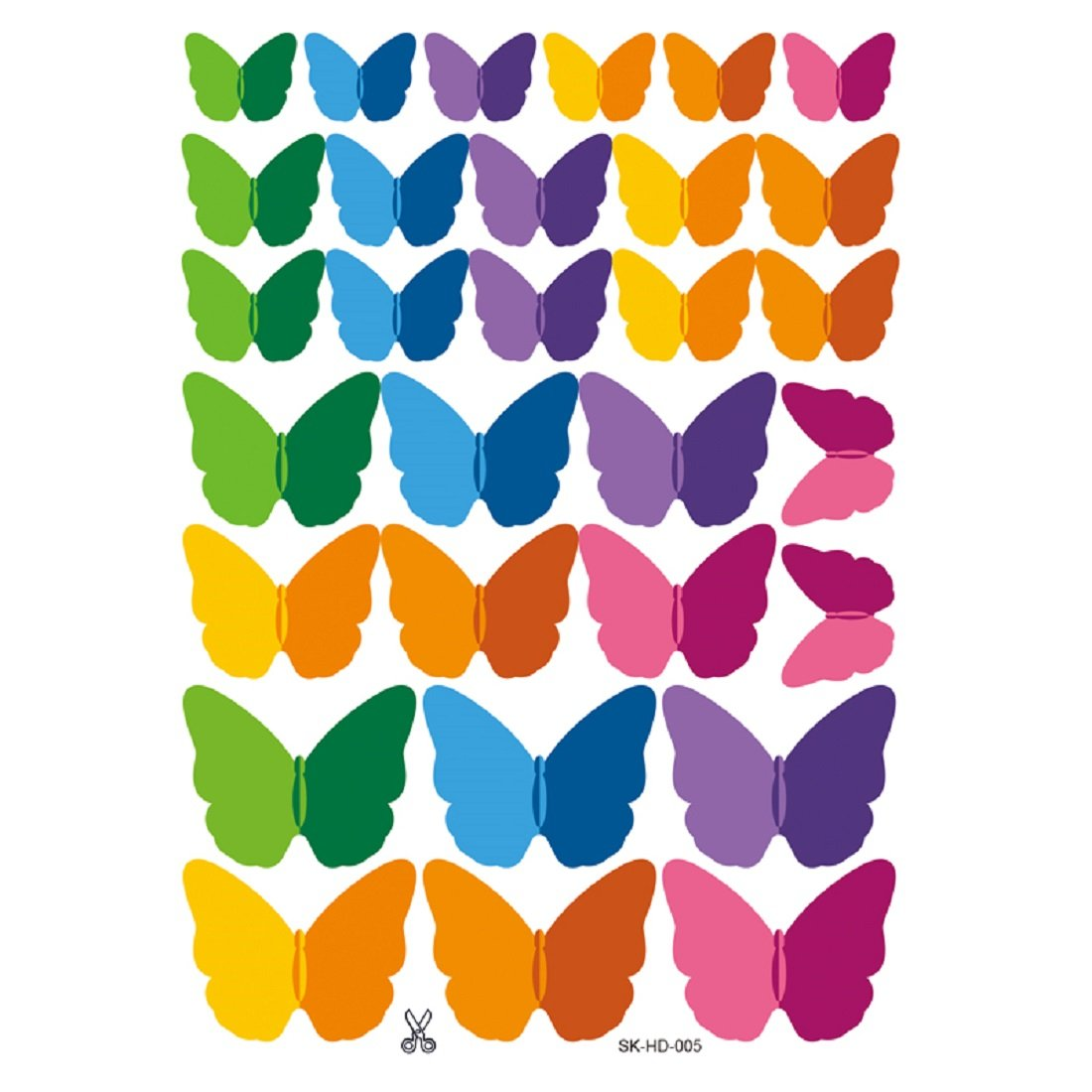 JAAMSO ROYALS Multi Colour 3D Colorful Crystal Butterfly Wall Stickers with Adhesive Art Decal Satin Paper Butterflies (1)