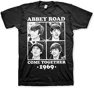 Oficialmente Licenciado Abbey Road - Come Together (3XL, 4XL, 5XL) Hombre Camiseta (Negro)