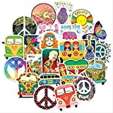 jklv 50 Hippie Graffiti Stickers Waterproof Stickers Luggage Scooters Water Cup Saches Refrigerator Motorcycle Stickers
