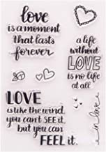 LZBRDY Love Wishing Words Heart Clear Rubber Stamps for Scrapbooking and Card Making Birthday Valentine's Day Crafts Silic...