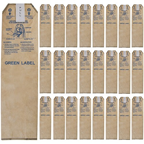 Green Label 25 Pack Replacement HEPA Oder Fighting Bags LWPK25OH for Oreck Magnesium Upright Vacuum Cleaners