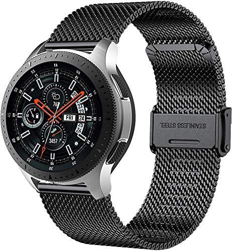 MUENShop 22mm Sgancio Rapido Cinturino Compatibile con Samsung Galaxy Watch, Huawei Watch,Cinturini in Acciaio Inossidabile di Ricambio Compatibile con Orologi per Donna e Uomo