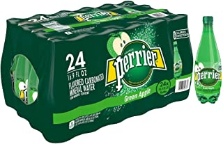 Perrier Green Apple Flavored Carbonated Mineral Water, 16.9 fl oz. Plastic Bottles (24 Pack)