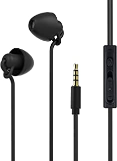 Sleeping Earbud Headphones - Ultra Flexible Silicon Earplugs Noise Cancelling Wired Sleep Earphones with Microphone for Sl...