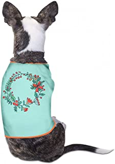 Summer Pet Apparel Christmas Pet Clothes Dog T-Shirts Clothes Merry Christmas Dog Cat Pet Shirts Cotton Shirts Soft and Breathable - (Sky Blue, Gray, Yellow, Black)