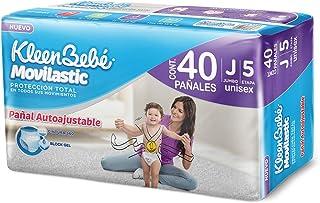 KleenBebé Movilastic Pañal Desechable para bebé, Talla Jumbo Unisex, Paquete con 40 Piezas, Ideal para Bebés de 11 a 14.5 kg