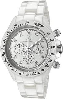 Toy FLP06WH Women's White Plasteramic Chronograph Watch