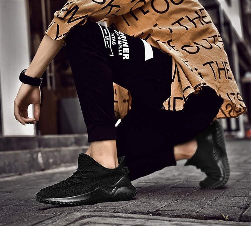 mofeng Scarpe da Corsa Slip on Blade Mesh Fashion Mens Sneakers Athletic Tennis Sport Cross Training Casual Walking Scarpe da Uomo Nero 2