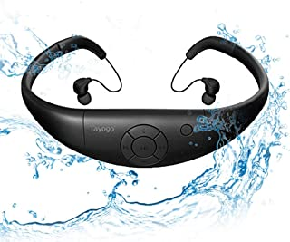مشغل إم بي 3 المقاوم للماء من تايغو، سماعات مضادة للماء للسباحة IPX8، ذاكرة سعة 8 جيجابايت يمكن تنزيل 2000 أغنية، تعمل لمد...