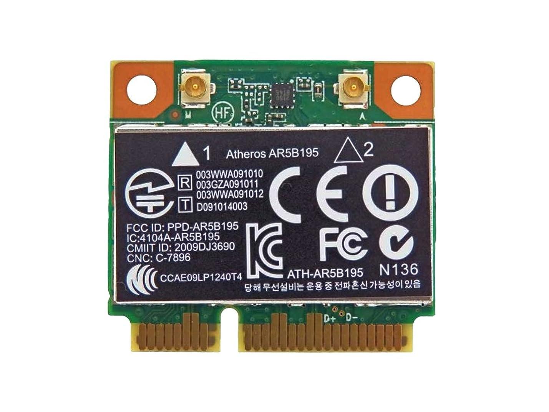 略す報復召集するHP純正 593127-001 + 汎用 AR5B195 802.11b/g/n + Bluetooth 3.0 PCIe Mini half 無線LANカード