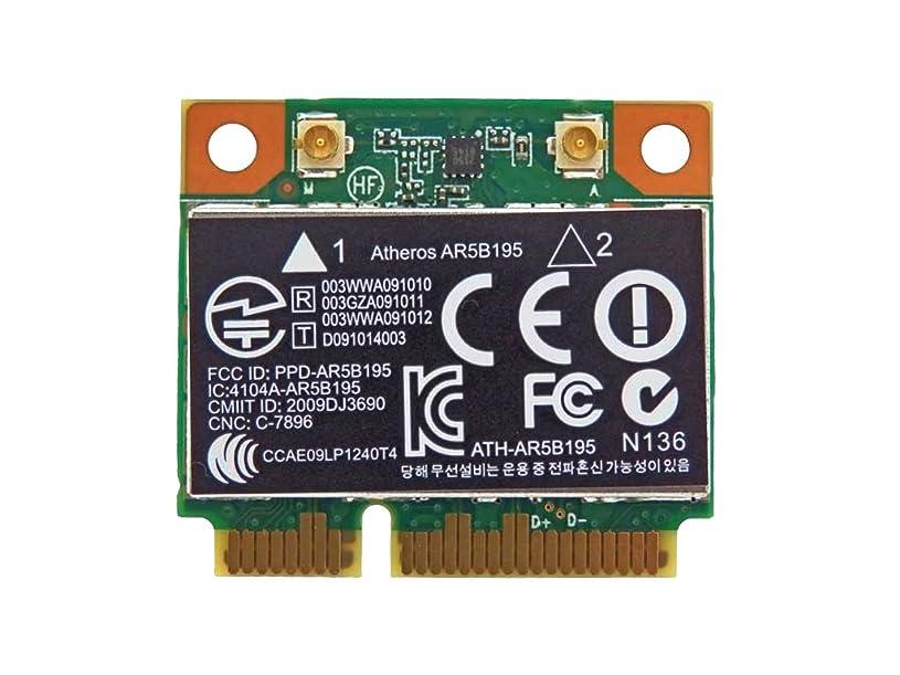 勝者独立長いですHP純正 593127-001 + 汎用 AR5B195 802.11b/g/n + Bluetooth 3.0 PCIe Mini half 無線LANカード