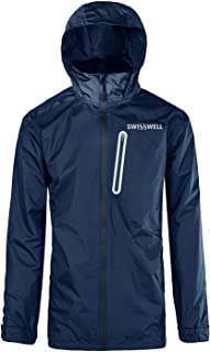 GEEK LIGHTING Men's Waterproof Rain Jacket Hooded Front Zip