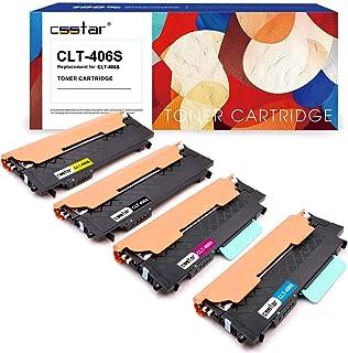 CSSTAR Compatible Cartuchos de Tóner Reemplazo para Samsung CLT-K406S CLT-C406S CLT-M406S CLT-Y406S para Xpress C460W C460FW C410W CLP-360 CLX-3305W CLX-3305 CLX-3300 CLP-365 CLX-3305FN Impresora