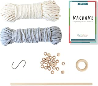 """Deluxe DIY Macrame Kit €"""" Macrame Wall Hanging Kit and a Macrame Plant Hanger Kit in 1 - Complete Macrame Starter Kit - Includes All Macrame Supplies Needed to Make a Plant Hanger and a Wall Han"""