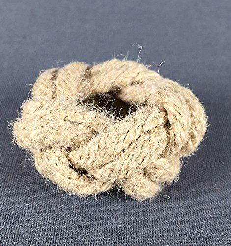 Buddel-Bini Versand Makrameeknoten naturfarben für Halstuch