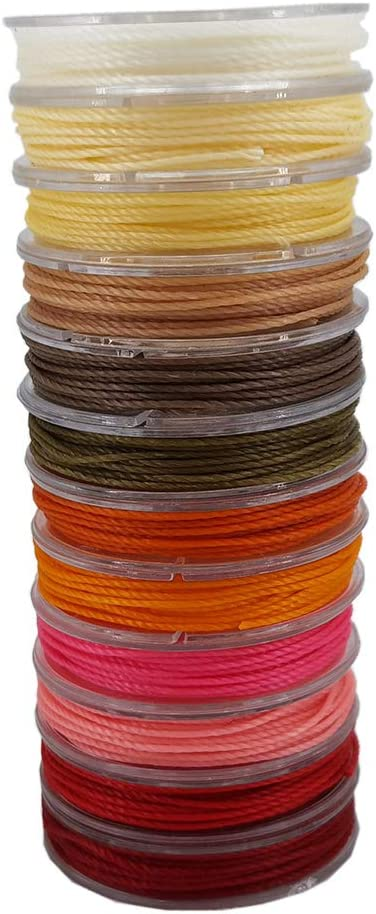 INSPIRELLE 12-Color Brazil Waxed Twine Super popular specialty store Special price for a limited time Cord Waterproof Polyester
