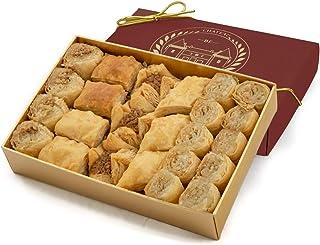 comprar comparacion Dulces baclava baklava, Mignon, 24 piezas, Chateau de Mediterranean, cinta de la caja de regalo