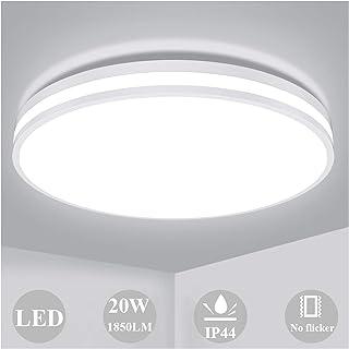 Lámpara de Techo 20W, Öuesen Plafon LED de Techo 4000K Blanco Natural 1850LM Impermeable IP44 Equivalente 150W LED Plafón para Baño Sala de Estar Cocina Balcón y Oficina