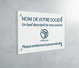 Professionele PVC-plaat, personaliseerbaar, 30 x 20 cm, verkrijgbaar in 21 kleuren (wit schrijvend blauw)
