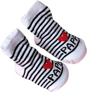 Chaussure B/éb/é Chausson B/éb/é Naissance Unisex 0-12 mois Manyo Chaussettes Antid/érapantes B/éb/é Coton Chaussettes Hautes Chaussette Personnalis/é