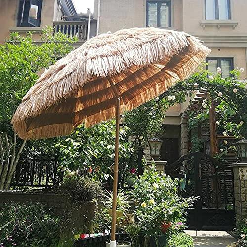 QLLL Ø 6,5 ft / 200 cm Sombrilla de Playa, Sombrilla de Jardín con Ajuste de Inclinación y Altura, Protección UV Impermeable 50+, Sombrilla de Patio para Acampar en la Piscina Al Aire Libre