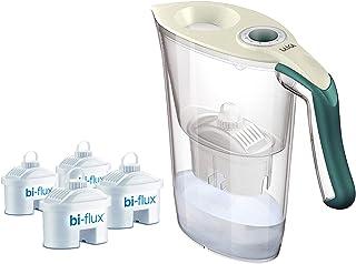 Laica Kit J9059 Carmen Tosca - Caraffa Filtrante per il Trattamento dell'Acqua Carmen Tosca con 4 Filtri Bi-Flux, Crema/Ve...