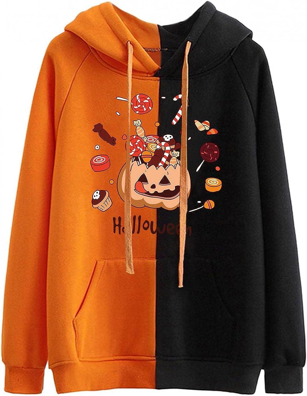 Denver Mall Qisemi Womens Halloween Outlet SALE Sweatshirt Pullov Graphic Cute