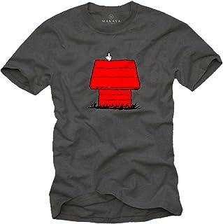 MAKAYA Camiseta con Perro Hombre - Snoop Dog