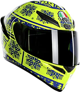 AGV Unisex-Adult Full Face K-1 Winter Test 2015 Motorcycle Helmet (Yellow/Blue, Medium/Small)