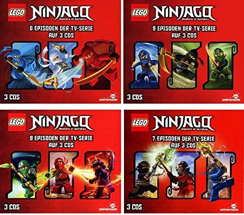 Lego Ninjago - Hörspielbox 1-4 (12 CDs)