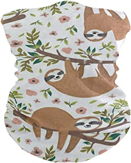 Cute Animal Sloth Tree Flower Balaclava Womens Headband Scarf Mens Bandana,Muffler,Neck Gaiter,Magic,Foulard Neckerchief